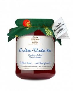 Marmelade aus dem Schwarzwald Faller Erdbeer-Rhabarber-Konfitüre extra 450 Gramm