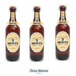 3 Monts Bière de Flandre helles obergähriges Starkbier 3 x 0, 75 Ltr. 8, 5% mit Sektkorken