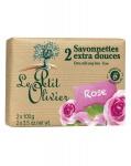 Le Petit Olivier Seife mit Rosen und Olivenöl 2 x 100 Gramm aus Frankreich