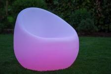 Luminatos 1.1 LED Sessel beleuchtet mit Farbwechsel Fernbedienung Akku Betrieb Leuchtsessel
