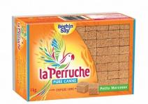 La Perruche Brauner natürlicher Würfel Rohrzucker kleine Stücke 1Kg