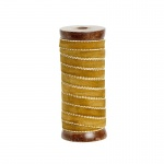 HÜBSCH 806025 Samtband, auf Holzspule, 10mm/10m