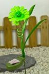 Solar LED Blume Garten Deko Solarlampe grün kein Strom