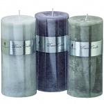 Boltze 3er Set Stumpelkerzen Dream Candle 2 im edlem Design 15cm Durchmesser 7 cm