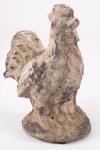 Keramikhahn, antikcreme patiniert Figur wetterfest 3er Set