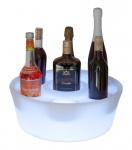 Luminatos LED Flaschen Korb Halter Flaschenständer Bottle Box Leuchtet 16 Farben Regal