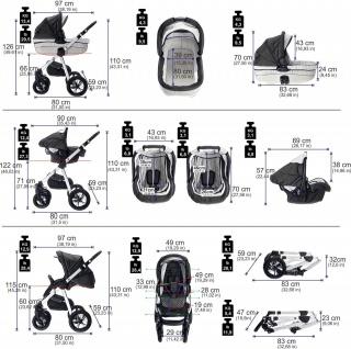 Friedrich Hugo Mandala | 4 in 1 Kinderwagen + ISOFIX | Luftreifen