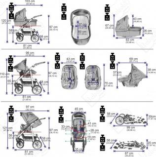 Bebebi Bellami | ISOFIX Basis & Autositz | 4 in 1 Kombi Kinderwagen