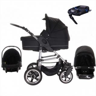 Bebebi London | ISOFIX Basis & Autositz | 4 in 1 Kinderwagen Set