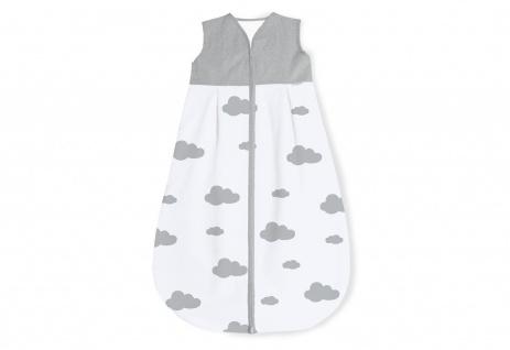 Schlafsack 'Wölkchen', grau, Sommer, 90 cm  