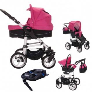 Bebebi Paris | 4 in 1 Kinderwagen Komplettset | ISOFIX Basis & Autositz