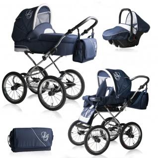 Bebebi Loving   3 in 1 Kombi Kinderwagen Komplettset   Nostalgie Kinderwagen