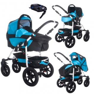 Bebebi Sidney | ISOFIX Basis & Autositz | 4 in 1 Kombi Kinderwagen | Luftreifen