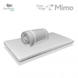 kinder reisematratze MIMO 120X60 GRAU Höhe 5 CM - Herausnehmbar, waschbar, antibakteriell und leicht zu tragen - DORMALIT