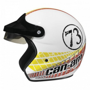 Original CAN AM BRP ST 2 Jet Helm retro weiß