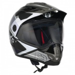Speeds Crosshelm X-Street Graphic Blau Helm Cross