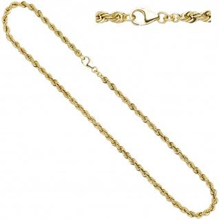 Kordelkette 585 Gelbgold 4, 9 mm 45 cm Gold Kette Halskette Goldkette Karabiner