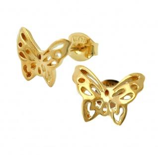 Stecker 7x10mm Schmetterling vergoldet 3 Mikron