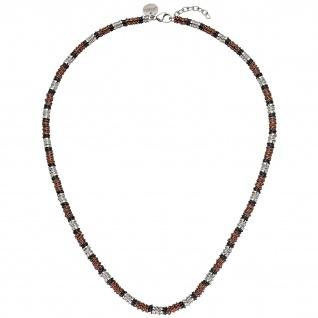 Collier Halskette Edelstahl bicolor 54 cm Kette