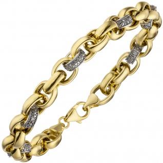 Armband 375 Gold Gelbgold 36 Diamanten Brillanten 20 cm Goldarmband