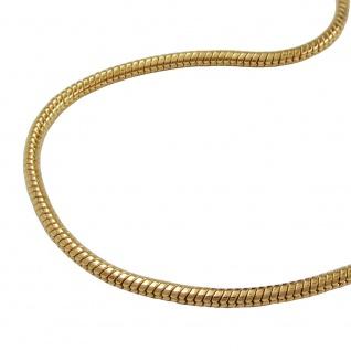 Armband 1, 5mm Schlangenkette rund glatt vergoldet AMD 19cm