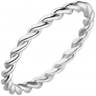 Damen Ring geflochten 925 Sterling Silber Silberring
