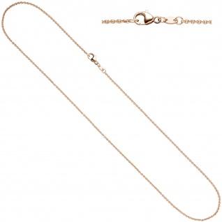 Ankerkette 333 Rotgold 1, 4 mm 42 cm Gold Halskette Kette Rotgoldkette Karabiner