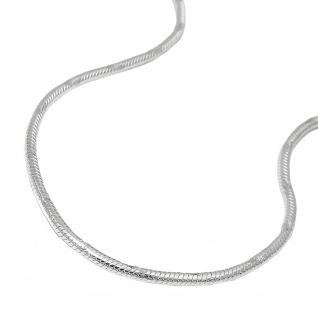 Kette 1, 3mm runde Schlangenkette diamantiert Silber 925 38cm
