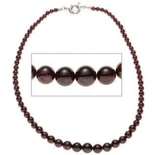Halskette Edelsteinkette Granat Verlauf 45 cm Kette