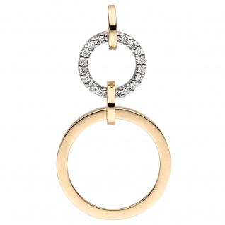 Anhänger 585 Gold Gelbgold 18 Diamanten Brillanten