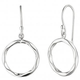 Ohrhänger rund 925 Sterling Silber Ohrringe Silberohrringe