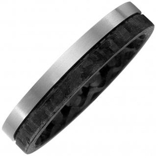 Partner Ring Carbon mit Titan matt Partnerring bicolor