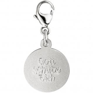 Einhänger Charm Engel Schutzengel 925 Silber matt Anhänger für Bettelarmband - Vorschau 2