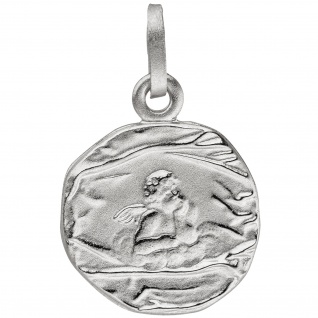 Anhänger Engel Schutzengel 925 Sterling Silber matt Silberanhänger