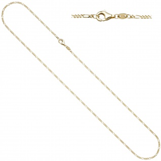 Figarokette 333 Gold Gelbgold diamantiert 1, 7 mm 50 cm Kette Halskette Goldkette