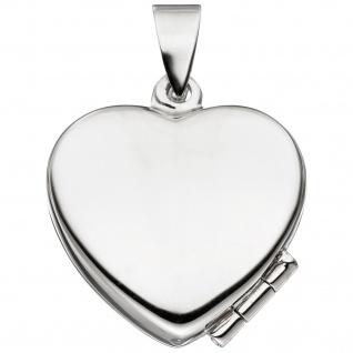 Kinder Medaillon Herz mit Marienkäfer 925 Sterling Silber zum Öffnen für 2 Fotos - Vorschau 2