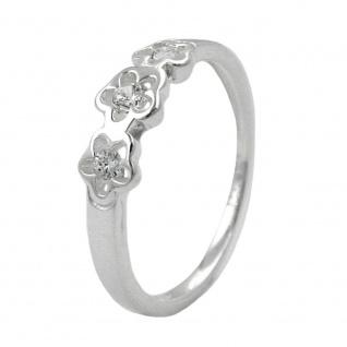 Ring Blumen Zirkonias Silber 925 Ringgröße 50