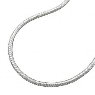 Kette 1, 3mm runde Schlangekette Silber 925 36cm