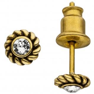 Ohrstecker Edelstahl goldfarben mit Kristallsteinen