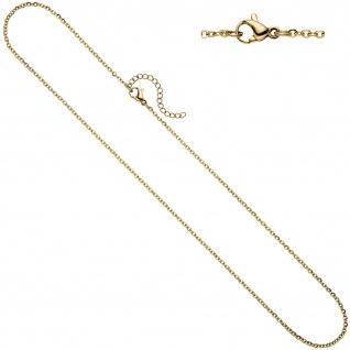 Halskette Edelstahl gelbgold farben beschichtet 1, 9 mm 47 cm Kette Karabiner