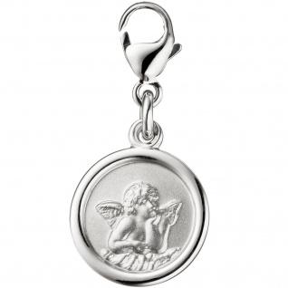 Einhänger Charm Engel Schutzengel 925 Silber matt Anhänger für Bettelarmband - Vorschau 1