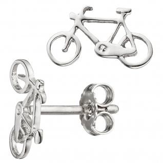 Kinder Ohrstecker Fahrrad Bike 925 Sterling Silber Ohrringe Kinderohrringe