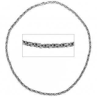 Königskette Edelstahl 4, 5 mm 50 cm Halskette Kette Karabiner