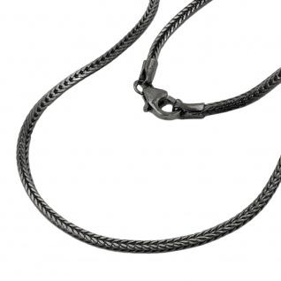 Kette 1, 5mm Fuchsschwanzkette rhodiniert Silber 925 42cm