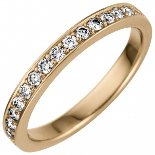 Damen Ring 585 Gold Gelbgold 17 Diamanten Brillanten 0, 50ct. Diamantring