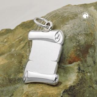 Anhänger 20x14mm Dokumentenrolle matt glänzend Silber 925 - Vorschau 2