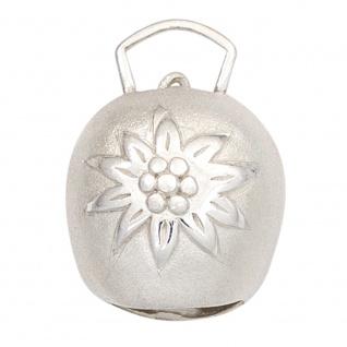 Anhänger Kuhglocke 925 Sterling Silber mattiert