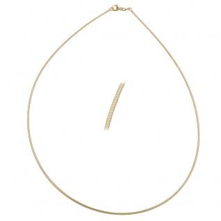 Kette Tonda Rundkette 1, 2mm rund gold-plattiert 45cm