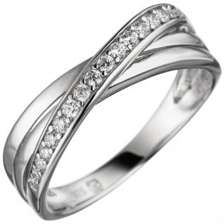 Damen Ring 925 Sterling Silber mit Zirkonia Silberring