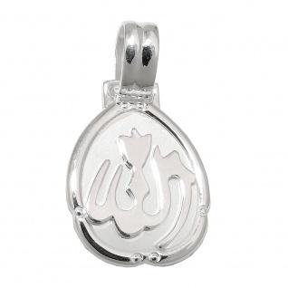 Anhänger 26x15mm Allah ovale Platte Silber 925
